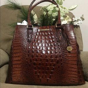 BRAHMIN Joan Tote Melbourne Handbag Pecan NWT New